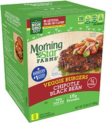 MorningStar Farms Chipotle Black Bean Morning Star Farms Chipotle Black Bean Veggie Burgers - 0