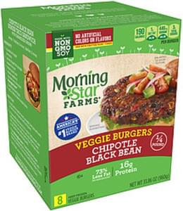 MorningStar Farms Morning Star Farms Chipotle Black Bean Veggie Burgers Chipotle Black Bean