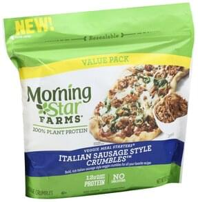 Morningstar Farms Veggie Crumbles Italian Sausage Style, Value Pack