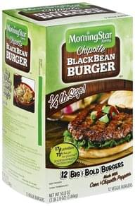 Morningstar Farms Veggie Burgers Chipotle Black Bean Burger