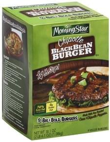 Morningstar Farms Black Bean Burger Big & Bold, Chipotle