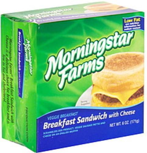 MorningStar Farms with Cheese Veggie Breakfast Sandwich - 6 oz