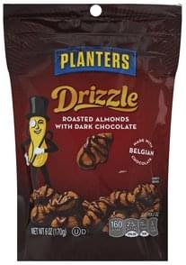 Planters Almonds Roasted, with Dark Chocolate