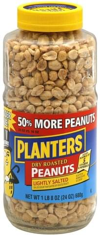 Planters Dry Roasted, Lightly Salted