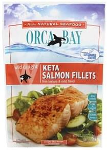 Orca Bay Seafoods Salmon Fillets Keta, Wild Caught