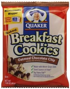 Quaker Breakfast Cookies Baked, Oatmeal Chocolate Chip