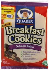 Quaker Breakfast Cookies Baked, Oatmeal Raisin