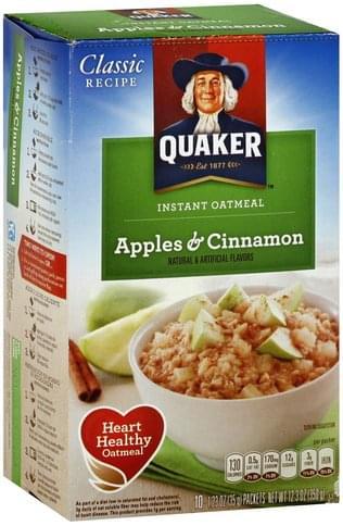 Quaker Instant, Apples & Cinnamon
