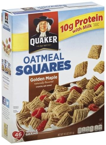 Quaker Oatmeal Squares, Golden Maple