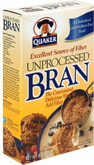 Quaker Unprocessed Bran - 8 oz, Nutrition Information | Innit