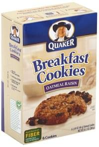 Quaker Breakfast Cookies Oatmeal Raisin