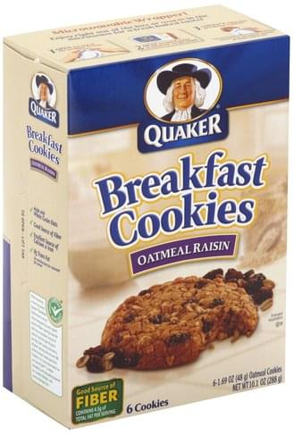 Quaker Oatmeal Raisin Breakfast Cookies - 6 ea