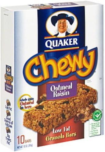 Quaker Oatmeal Raisin Granola Bars - 10