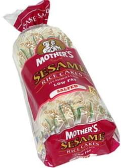 Mothers Rice Cakes Salted, Sesame