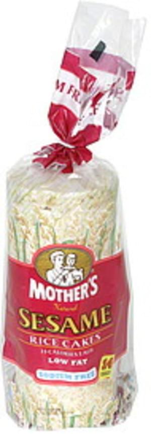 Mothers Rice Cakes, Sesame Rices Cakes  - 14 ea