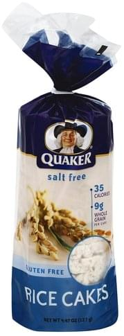 Quaker Salt Free Rice Cakes - 4.47 oz