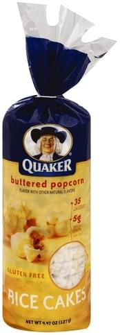 Quaker Buttered Popcorn Rice Cakes 4 47 Oz Nutrition Information Innit