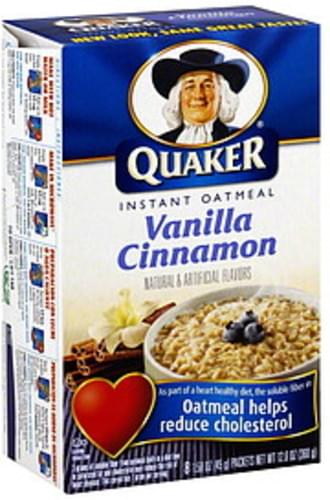 Quaker Vanilla Cinnamon Instant Oatmeal - 8 ea