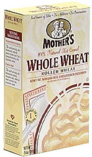 Mother's 100% Natural  Whole Wheat, Rolled Wheat Hot Cereal Mix - 14 oz