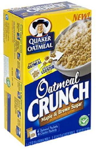 Quaker Maple & Brown Sugar Instant Oatmeal - 6 ea