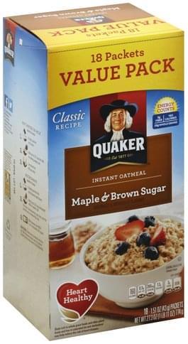 Quaker Maple & Brown Sugar Instant