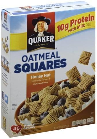Quaker Oatmeal Squares, Honey Nut