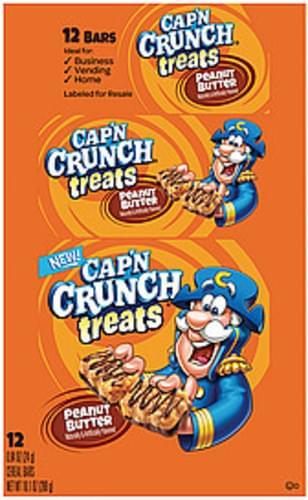 Cap'n Crunch Peanut Butter Cereal Bars - 10 1 oz, Nutrition