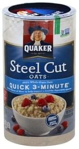 Quaker Oats Steel Cut, Quick 3-Minute