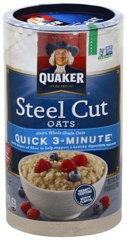 Quaker Steel Cut, Quick 3-Minute Oats - 25 oz