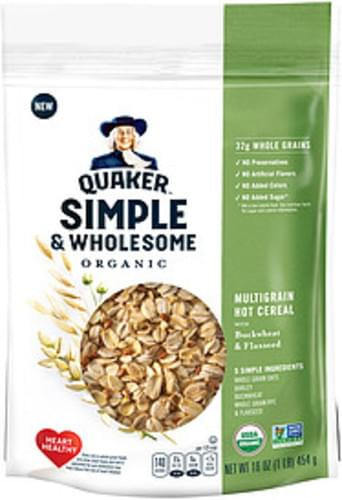 Quaker Simple & Wholesome Organic Multigrain Quaker Simple & Wholesome Organic Multigrain Hot Cereal With Buckwheat & Flax - 0
