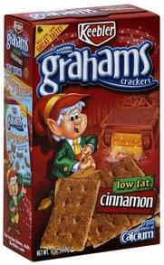 Keebler Grahams Crackers Cinnamon, Low Fat