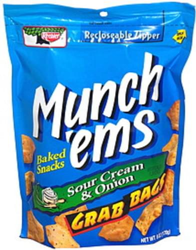 Munch'ems Sour Cream & Onion, Grab Bags Baked Snacks - 6 oz