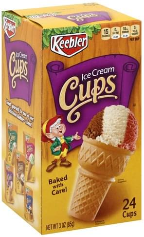 Keebler Ice Cream Cups - 24 ea