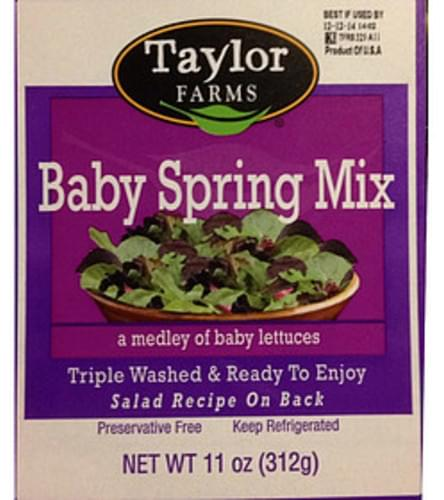 Taylor Farms Baby Spring Mix - 85 g