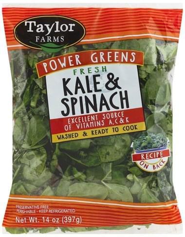 Taylor Farms Fresh Kale & Spinach - 14 oz