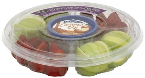 Taylor Farms Berries & Apple, with Caramel Dip, Original Fruit Tray - 1 ea