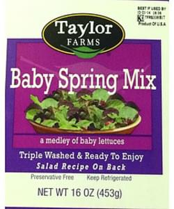 Taylor Farms Baby Spring Mix Baby Lettuces