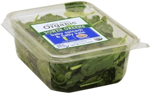 Taylor Farms Organic Baby Spinach & Baby Kale - 5 oz
