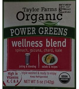 Taylor Farms Organic Power Greens Wellness Blend