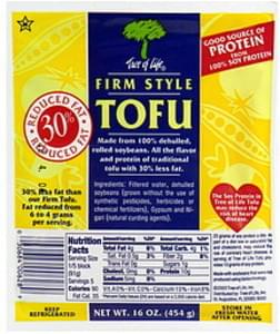 Tree of Life Tofu Firm Style, Reduced Fat