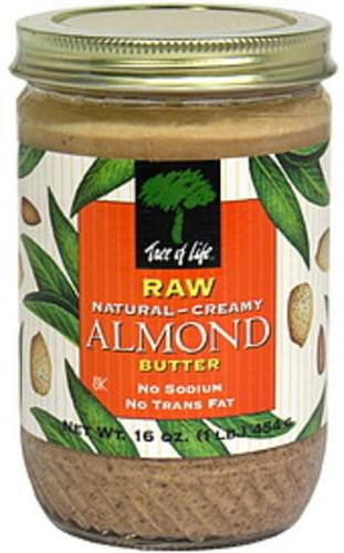 Tree of Life Creamy, Raw Natural Almond Butter - 16 oz