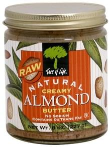 Tree Of Life Almond Butter Creamy, Raw