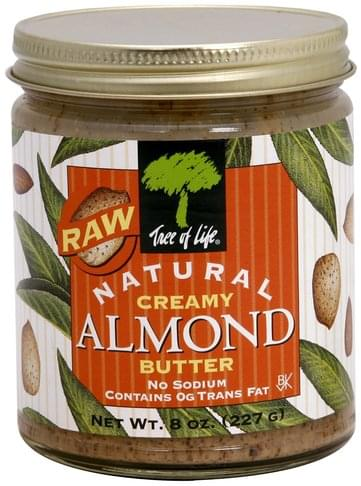 Tree Of Life Creamy, Raw Almond Butter - 8 oz
