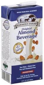 Harmony Farms Almond Beverage Original, Unsweetened