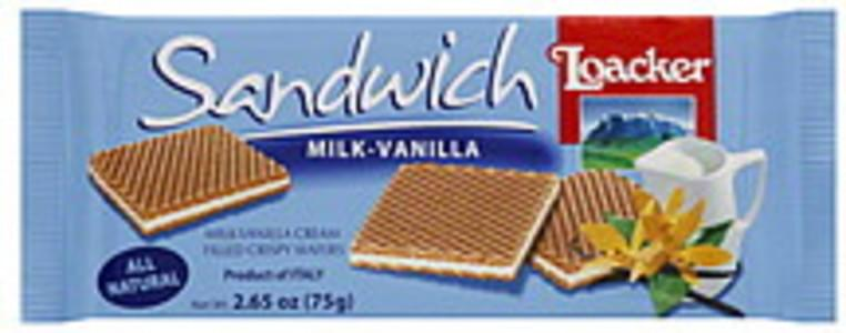 Loacker Wafers Milk-Vanilla 2.65 Oz