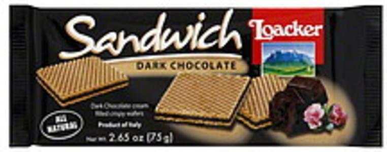 Loacker Wafers Dark Chocolate 2.65 Oz
