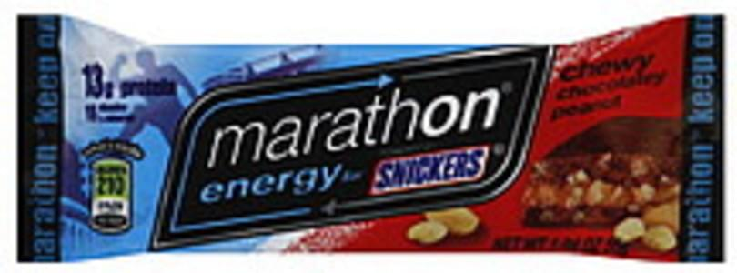 Marathon Energy Bars Chewy Chocolatey Peanut 12 Ct