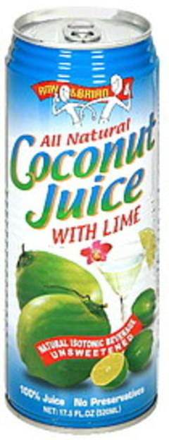 Amy & Brian Juice Coconut With Lime  17.5 Oz