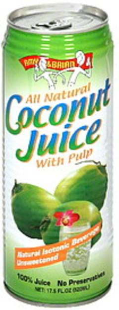 Amy & Brian Juice Coconut With Pulp 17.5 Oz