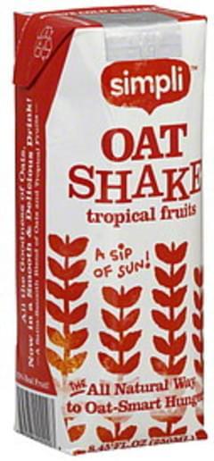 Simpli Oat Shake Tropical Fruits 8.45 Oz
